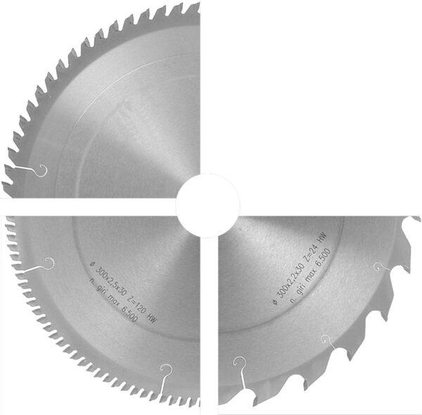 Disco especial para el corte de material plástico con dientes alternos de precorte. Referencia M 07