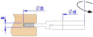 Fresa para ranurar extensible. Ejemplo de trabajo con cotas nominadas. SKU: F13 Categoría: